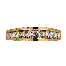 14K Yellow Gold with 0.75ct Graduated Diamond Ring Size 7.25