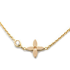 LOUIS VUITTON 18K Pink Gold Diamond Pendentif Monogram Idylle Necklace