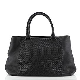 Bottega Veneta Open Tote Leather and Intrecciato Nappa Large