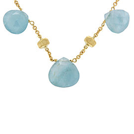 Marco Bicego 18K Yellow Gold Aquamarine Paradise Necklace