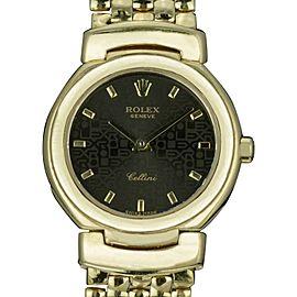 Rolex Cellini 6621 18K Yellow Gold 26mm Quartz Women Watch