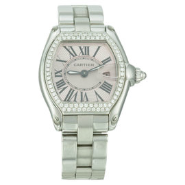 Cartier Roadster 2675 Stainless Steel & Pink Dial 30mm Womens Watch