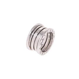 Bulgari 18K White Gold B-Zero Ring Size 3.75
