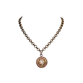 Fendi Coin of the Roman God Janus 18K Gold Plated Pedant Necklace