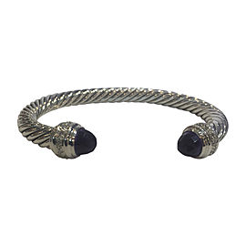 David Yurman Cable Classics Sterling Silver with Amethyst & 0.48ct Diamonds Bracelet