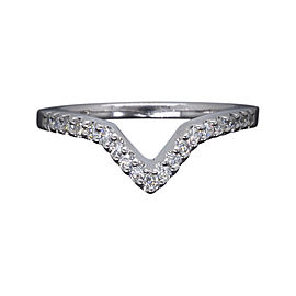 Gabriel & Co. 14K White Gold 0.20ct. Diamond Band Ring Size 5.25