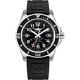 Breitling Superocean II A17365C9/BD67BKPT3 Stainless Steel / Rubber with Black Dial 42mm Mens Watch