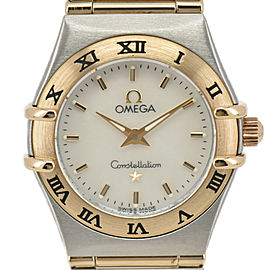 OMEGA Constellation 1262.70 SS/K18 White shell Dial Quartz Ladies Watch