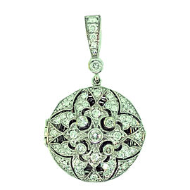 Penny Preville 18K White Gold with 0.75ct. Diamond Locket Pendant