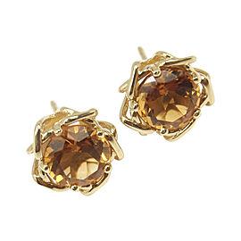 Tiffany & Co. Vintage 18K Yellow Gold Citrine Earrings
