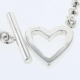 GUCCI 925 silver Ball Chain Heart bracelet