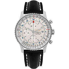 Breitling Navitimer World A2432212-G571BKLD Stainless Steel 46mm Mens Watch