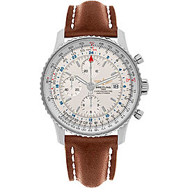 Breitling Navitimer World A2432212-G571LBRLT Stainless Steel Automatic 46mm Mens Watch