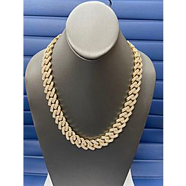 14K Yellow Gold Men's 32.06ct Diamond Chain Necklace 309.7g