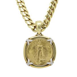 David Webb Liberty Coin Necklace