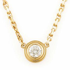CARTIER 18K Gold Diamond: 1 stone One grain Diaman Leger Necklace CHAT-231