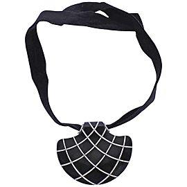 Enigma by Gianni Bulgari Jet Diamond Gold Pendant on Velvet Choker Necklace