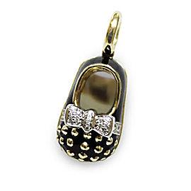 Aaron Basha Saddle Shoe 18k Yellow Gold 0.13ct. Diamond Charm