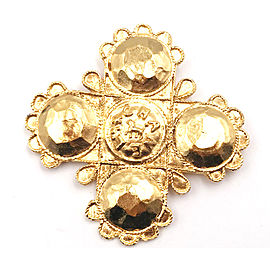 Chanel Vintage 24K Gold Plated Brooch