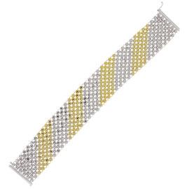 14K Yellow and White Gold wit 10.37ct. Diamond Carpet Bracelet