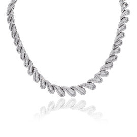 Platinum with 20.34ct. Diamond Collar Necklace