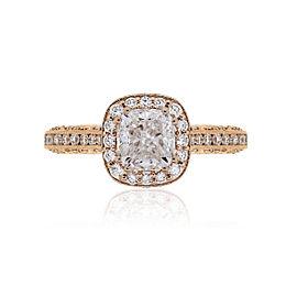 Tacori 18k Rose Gold 2.95ctw Diamond Halo Engagement Ring Size 7
