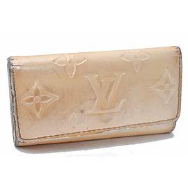 Louis Vuitton Vernis Multicles 4 Four Hooks Key Case Cream