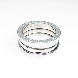 BVLGARI 18K White Gold B.zero1 3 Band Ring