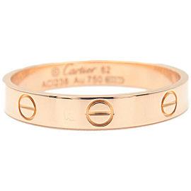 Cartier 18k Rose Gold Mini Love Ring