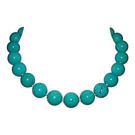 Alberto Juan Turquoise Beaded Princess Necklace
