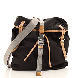 Prada Buckle Backpack Tessuto with Saffiano Leather Small