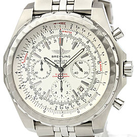 Polished BREITLING Bentley Motors Steel Automatic Mens Watch A25363