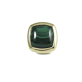 David Yurman Sterling Silver and 18K Yellow Gold with Malachite Albion Ring Size 6.75