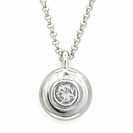 Platinum Diamond 1 stones Escargot Chain Necklace