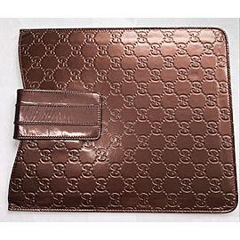 GUCCI Brown Genuine Leather IPad Case