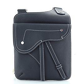 Christian Dior Saddle Flat Messenger Bag Leather