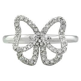 0.54 Carat 14K White Gold Diamond Ring