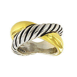 David Yurman 18k Gold And Sterling Silver Crossover Ring
