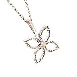 Louis Vuitton Flower Pendant Necklace 18K White Gold with Diamonds