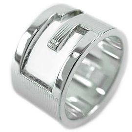 GUCCI Silver G logo Ring