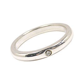 Tiffany & Co. Peretti Sterling Silver Diamond Stacking Ring Size 6