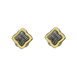 David Yurman Venetian Quatrefoil 18k Gold & Silver Earrings