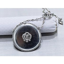 Cartier, Diamond and Platinum Watch Pendant and Chain Necklace