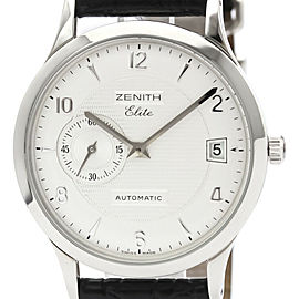 ZENITH Elite Steel Leather Automatic Mens Watch 01/02.1125.680