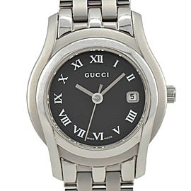 GUCCI 5500L Black Dial SS Date Quartz Ladies Watch