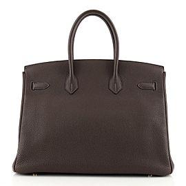 Hermes Birkin Handbag Chocolate Togo with Gold Hardware 35