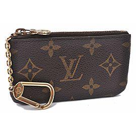 Louis Vuitton Monogram Pochette Cles Coin Case M62650