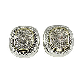 David Yurman Sterling Silver & 18K Yellow Gold 1.00ct. Diamond Albion Earrings