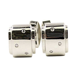 Piaget 18K White Gold Diamond Cufflinks