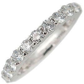 HARRY WINSTON Round Prong-Set Full Eternity Diamond Ring Platinum